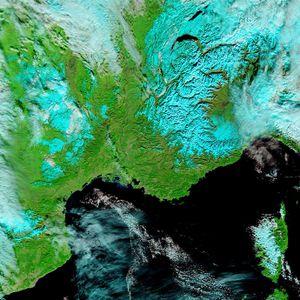 Terra - MODIS - France Sud-Est - 22-01-2013 - 721 - 500m