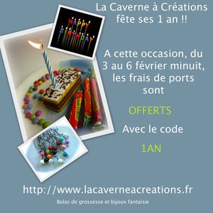 promo anniversaire 1 an
