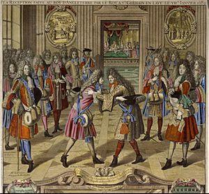 Arrivée de Jacques II d'Angleterre à Saint-Germain-en-Lay