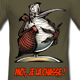 tee-shirt-homme-becasse-moi-je-la-chasse design