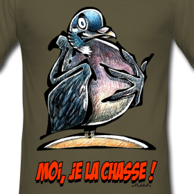 tee-shirt-homme-palombe-moi-je-la-chasse design