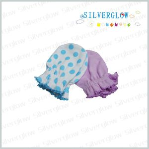 cute fashion cotton printed baby gloves for scratching