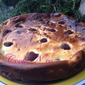 Moelleux chocolat blanc et framboises
