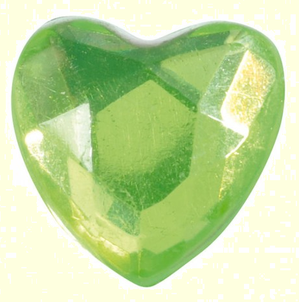 coeur vert de diamant