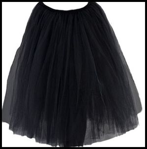 Tutu long noir Repetto