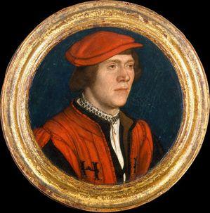1 Miniature 1534 Hans Holbein jeune Homme au chapeau rouge
