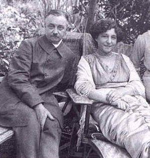 Félix Vallotton et Gabrielle son épouse en 1910