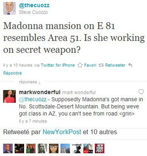 Madonna mansion on E 81 resembles Area 51