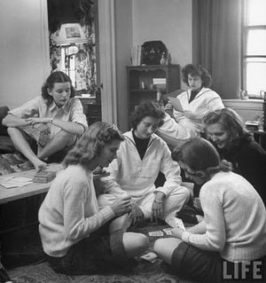 Nina Leen girls-playing-cards-by-nina-leen-for-LIFE