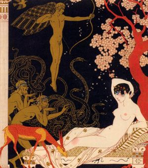 George Barbier (1882 – 1932, French) La belle Hélène