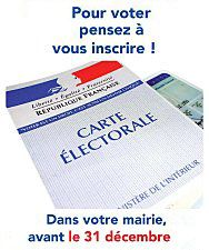 Pub INSCRIPTION LISTE ELECTORALE