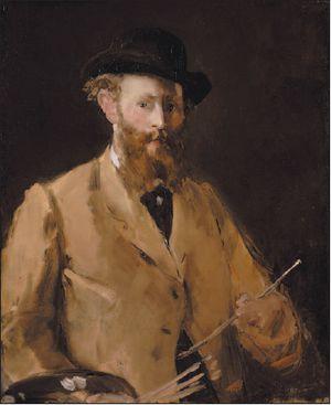auto Manet 1878-9 autoportrait à la palette Coll privée