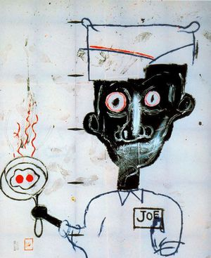 28 Basquiat 83 yeux & oeufs The Eli and Edythe L. Broad Co