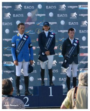 Chantilly Global Champions Tour Podium 2013