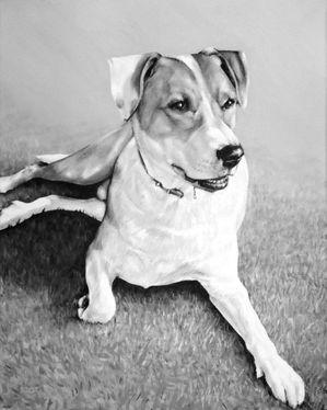 Peinture de chien