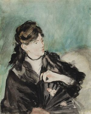 9B Berthe Manet 1873-74 Portrait Berthe Morizot Chicago Art