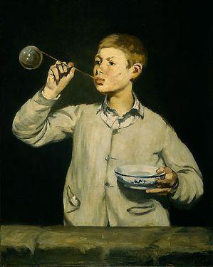 6 Chardin Manet 1867 Les bulles de savon Gulbenkian Lisbonn