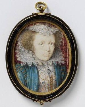 3c Miniature 1616 17 Oliver Peter Mrs Edward Norgate 54x43