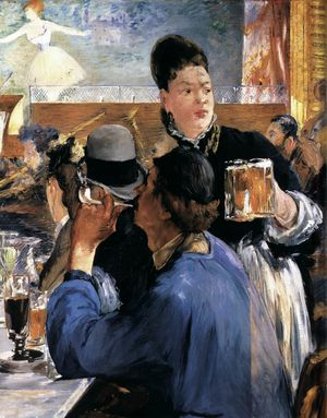 4 Serveuse Manet 1878-80 Corner of the café concert Nation