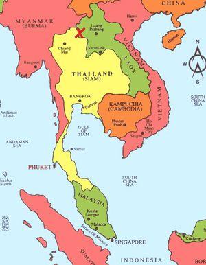 Carte Thailande Frontiere.Poste Frontiere Thailande Laos Le Blog De Perjalanan