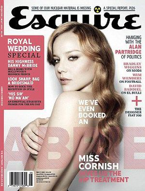 Abbie Cornish strips off in May 2011 issue of ''Esquire''