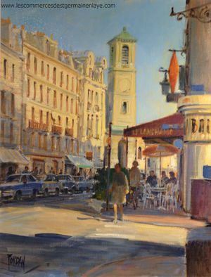 Le peintre Daniel Fort dit Fordan et Rue de la République Saint-Germain en Laye