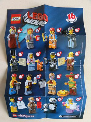 LEGO THE MOVIE 16 TO COLLECT MINIFIGS