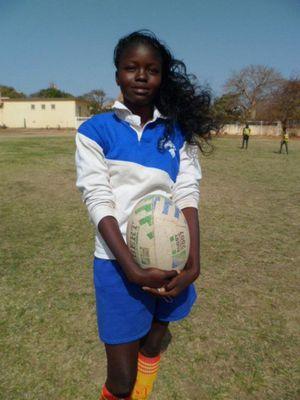 Jeune rugbywoman