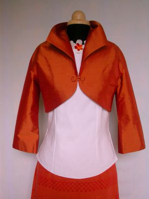 ensemble soie et coton orange 2