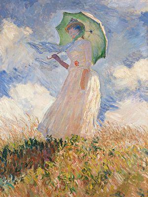 Monet femme à l'ombrelle droite