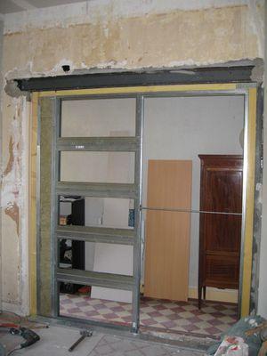 la porte coulissante suite salon pisode 15 r novation. Black Bedroom Furniture Sets. Home Design Ideas