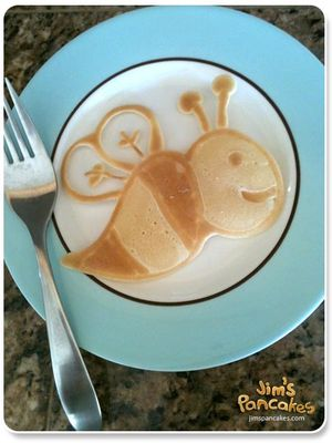 bee-pancake-art