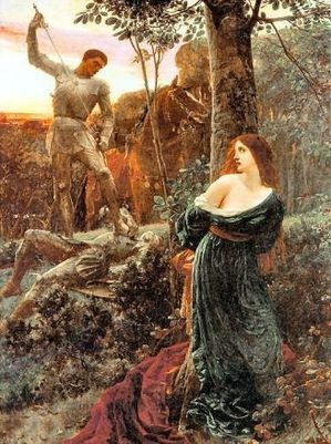 a knight and his lady Frank Dicksee