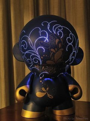 Mega Munny Electric Led custom toys by Pottstarr