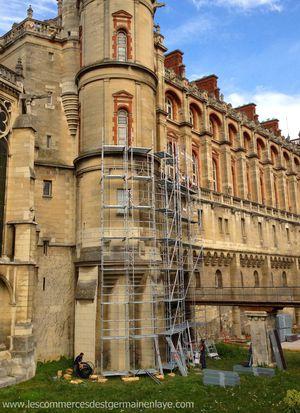 La rénovation des façades extérieures du château de Saint-Germain-en-Laye débute