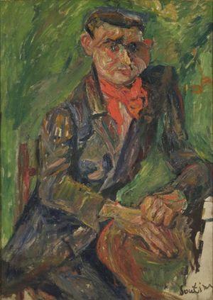 74 Homme Soutine 1930 portrait de moïse kisling