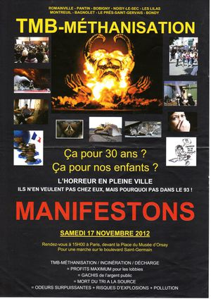 manif le 17 novembre 2012 romainville le doigt l o a fait mal tr s mal. Black Bedroom Furniture Sets. Home Design Ideas