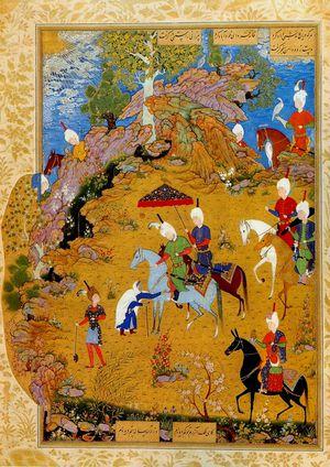 Khamseh de Nizami chasse