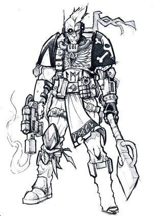 Space Wolves Scout Concept Sketch