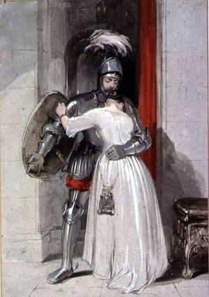 George Cattermole - Lady and Knight