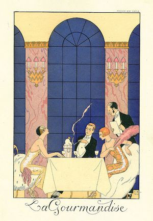 george-barbier la gourmandise
