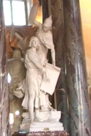 raymond VI annonçant la mort de simon de montfort