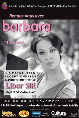 Affiche expo Barbara à Cadaujac (Blog Bagnaud)