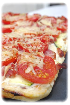 Pizza lardons courgettes I