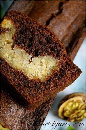Cake chocolat coeur noix et miel Duo 20