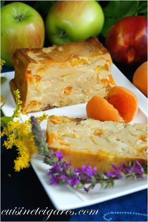 Flan pommes abricots nectarines Duo 10