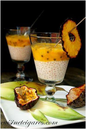 Verrine Fruits Exotiques sur Tapioca Coco Duo 1