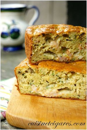 Cake Courgettes Aubergines herbes Duo 2