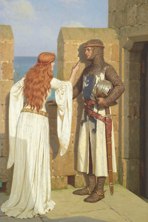 Edmund Blair Leighton Historical Genre English 1852-1922 -