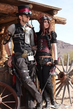 M Steampunk Couple